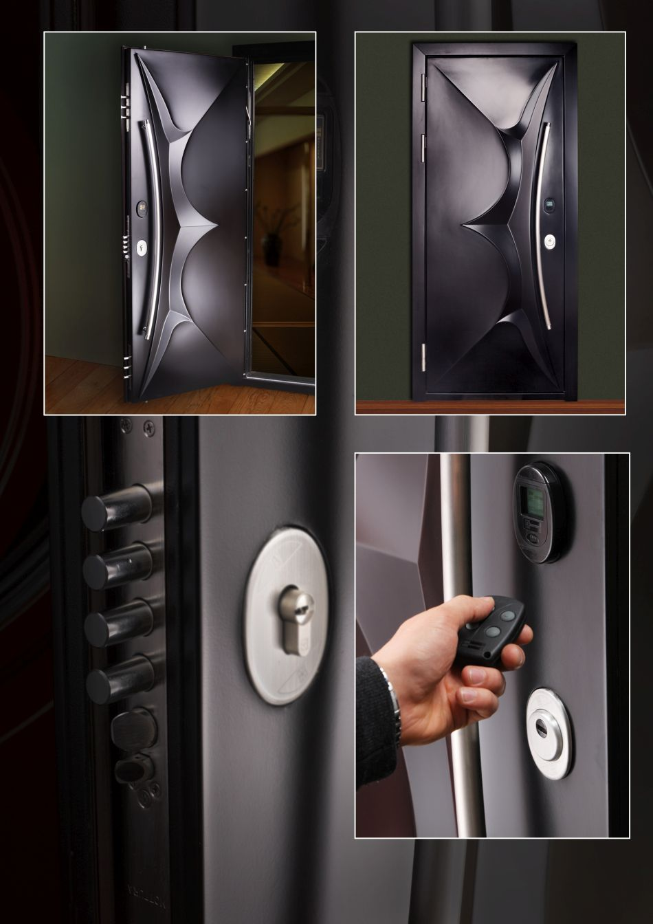 Custom Made Front Door With Remote Control Locking System