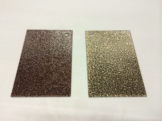 Old Copper Left Old Gold Powder Coating
