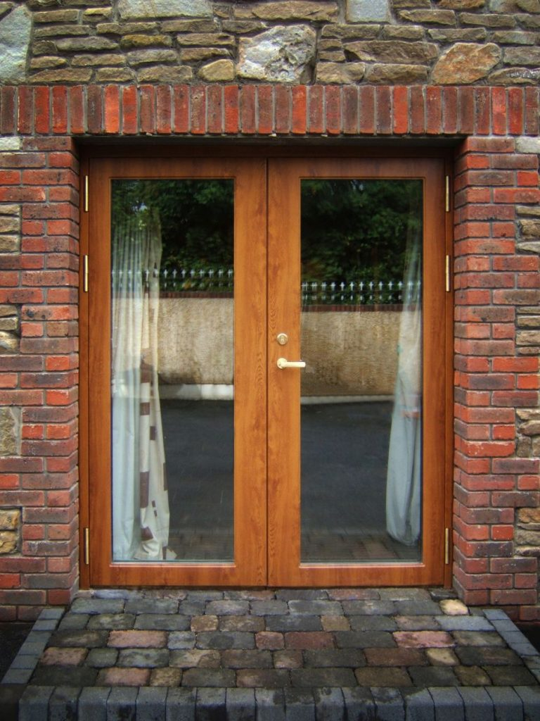 Security Glass French Door With Tripple Glazing