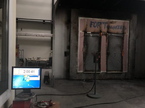Fort Security 2 Front Doors Fire Resistance Test For Over 2 Hour