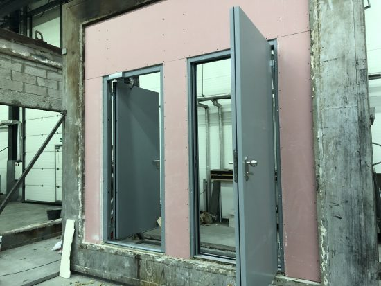 Fort Security 2 Front Doors Pre Fire Resistance Test