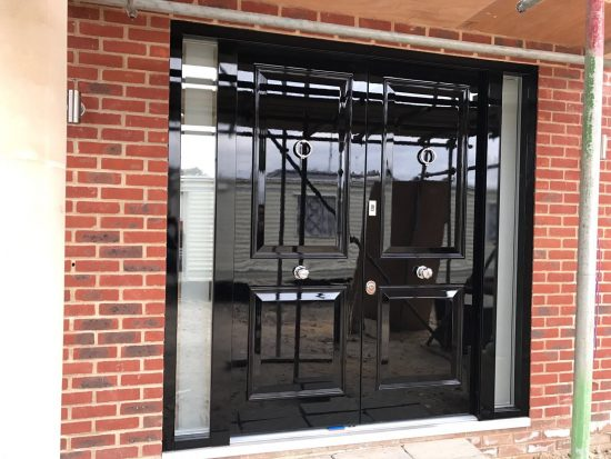 Fort Security 4 Panel Front Door With 100� Gloss Finish