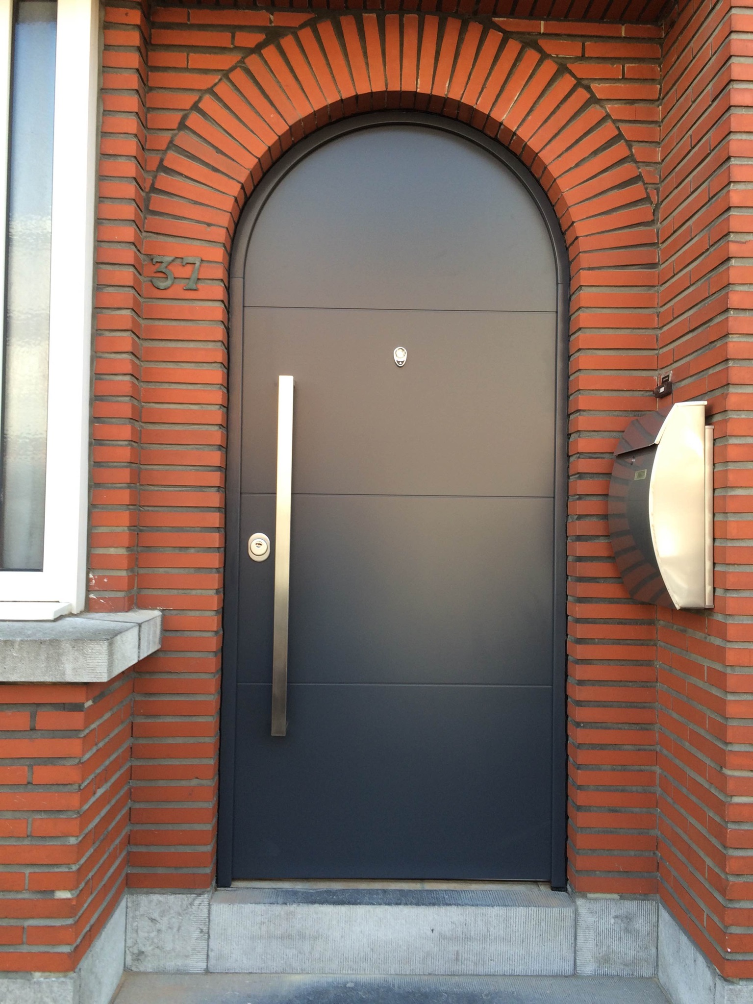 Fort Security Arched Front Door With Silver Handle
