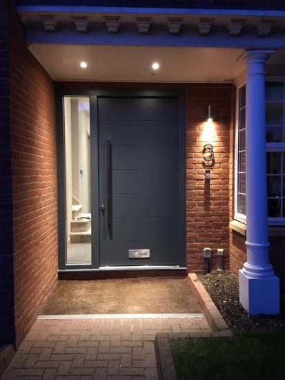 Fort Security Contemporary Front Entrance With Single Side Light