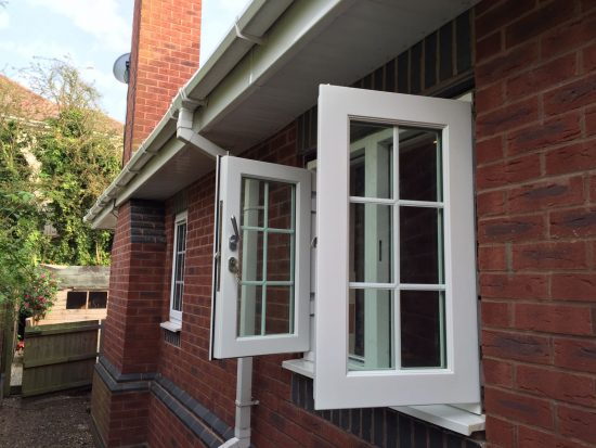 Fort Security Double Casement Window With 2 Active Openings Open