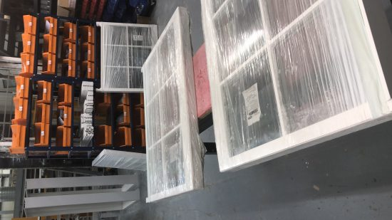 Fort Security Finished Sash Windows Ready For Distribution