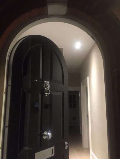 Fort Security Front Arch Door With Silver Embelishment