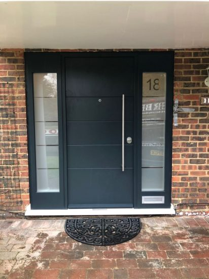 Fort Security Front Door With 2 Side Glazed Panels