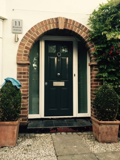 Fort Security Single Front Door With 2 Side Glazed Panes With Silver Finish 2