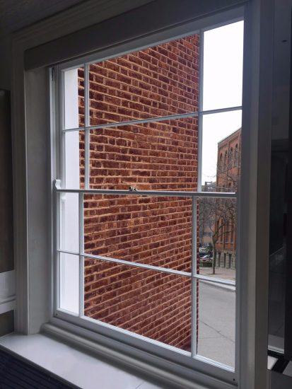Fort Security White Sash Window